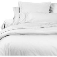 SOLEIL d'OCRE Lot de 2 Taies d'Oreiller Camille - Coton percale - 65 x 65 cm - Blanc