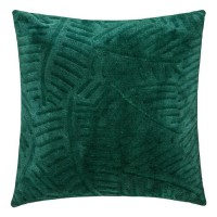 Coussin Flan 3D Feuille - 40 x 40 cm - Vert