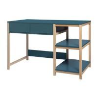 ANKARA Bureau - Bleu - L 120 x P 60 x H 75 cm