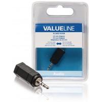 Adaptateur audio de Jack 2,5 mm mâle vers Jack 3,5 mm femelle noir