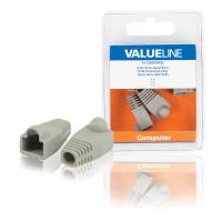 Gaine serre-câble Valueline pour connecteur RJ45 gris