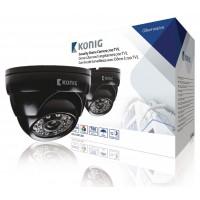 Caméra de surveillance avec dôme à 700 TVL (lignes TV) avec câble de 18 m