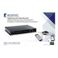 Enregistreur vidéo numérique de surveillance équipé d'un disque dur de 500 Go intégré