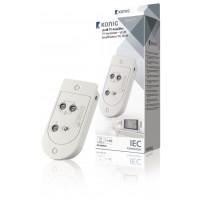 Amplificateur TV 18 dB 2 sorties, commande de gain