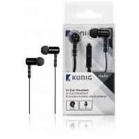 Écouteurs intra auriculaires noirs à câble plat, 13 mm