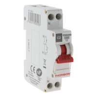 THOMSON Disjoncteur a vis PH+N - 2A NF - Pouvoir de coupure 4.5KA