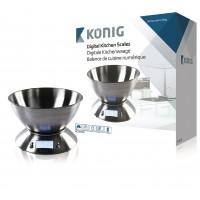 Balance de cuisine numérique avec bol en acier inoxydable