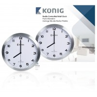Horloge murale radio-pilotée 30cm.