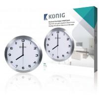 Horloge murale en aluminium 30cm