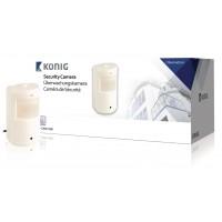 Caméra de sécurité cachée dans un boîtier blanc de détecteur de mouvement