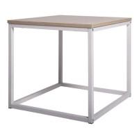 KITTY Table basse - Blanc - L 50 x P 50 x H 45 cm
