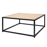 MINSK Table basse - Imitation bois - L 80 x P 80 x H 34 cm
