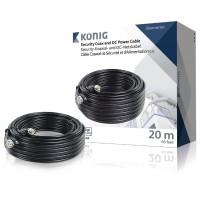 Câble coaxial de sécurité et d'alimentation c.c. RG59 20,0 m