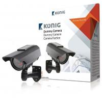 Caméra factice CCTV avec panneau solaire et LED IR qui s'allume dans le noir