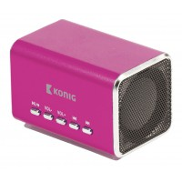 Haut-parleur portable MP3 rose