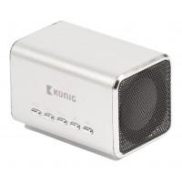 Haut-parleur portable MP3 argent