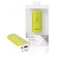 Batterie portable 4400mAh, 5V, 1A, verte