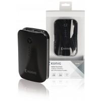 Batterie portable 7800mAh, 1x 5V, 2,1A + 1x 5V, 1A, noire
