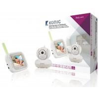 Caméra de surveillance pour bébé et enfant vidéo numérique LCD 3,5po 2,4GHz