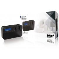 Radio DAB+ avec 20préréglages et fonction réveil, coloris noir