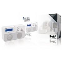 Radio DAB+ avec 20préréglages et fonction réveil, coloris blanc