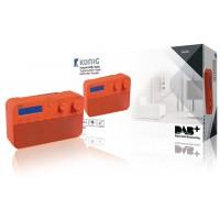 Radio DAB+ avec 20préréglages et fonction réveil, coloris rouge