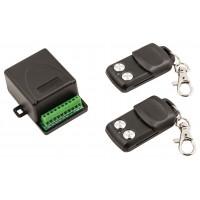 Kit de sécurité à radiofréquence intérieur pour la domotique, avec 2télécommandes et code fixe