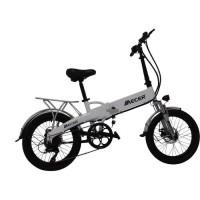 MECER Vélo pliable Vélo Pliable 20'' a assistance électrique MEB-PL-20-BK - Autonomie 55 km - 7 vitesses Shimano - Mixte - Blanc