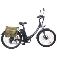 Vélo électrique Vélobecane 26'' -7 Vitesses-Freins a disques -Autonomie 75km-Cadre alu - Noir