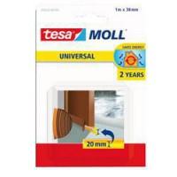 TESA Joint bas de porte adhésif - Mousse PVC - 1 m x 38 mm - Marron