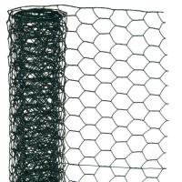 NATURE Maille hexagonale en acier galvanisé plastifié vert - Ø 25 mm - 1x5 m
