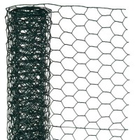 NATURE Maille hexagonale en acier galvanisé plastifié vert - Ø 13 mm - 1x5 m