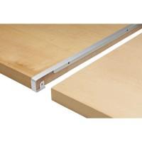 NORDLINGER PRO Profil jonction Bord a bord - Aluminium - 2/4R 38 mm R3/5 mm x 670 mm - Gris aluminium