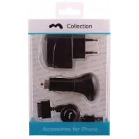Kit chargeur pour iPhone 4/4S/3GS/3G 230V/12V/USB