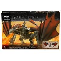 MEGA CONSTRUX Game of Thrones Drogon 50 cm - GKG97 - Briques de construction - 16 ans et +