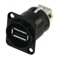 NAUSB USB GenderChanger noir