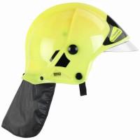 Casque de pompier F1 avec visiere, phosphorescent