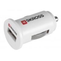 Mini chargeur blanc USB de voiture sous blister