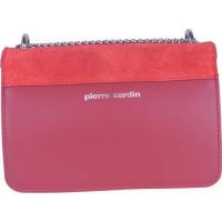 PIERRE CARDIN Sac Bandouliere en cuir couleur rouge/bordeaux
