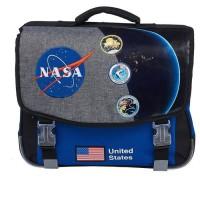 NASA Cartable - Deux compartiments - 41 cm - Noir