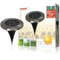 Spot solaire rond LED à enterrer