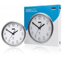 Horloge murale en aluminium à commande radio
