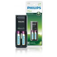 Chargeur de Piles 1/2 x AA/AAA, 170/80 mA, 220/240V, incluses 2 x AA 2100 mAh