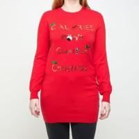 Robe Pull de Noël Rouge Fe 44