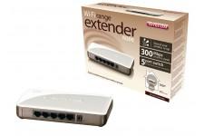 Dispositif d'extension Wi-Fi N300+ avec commutateur 5 ports