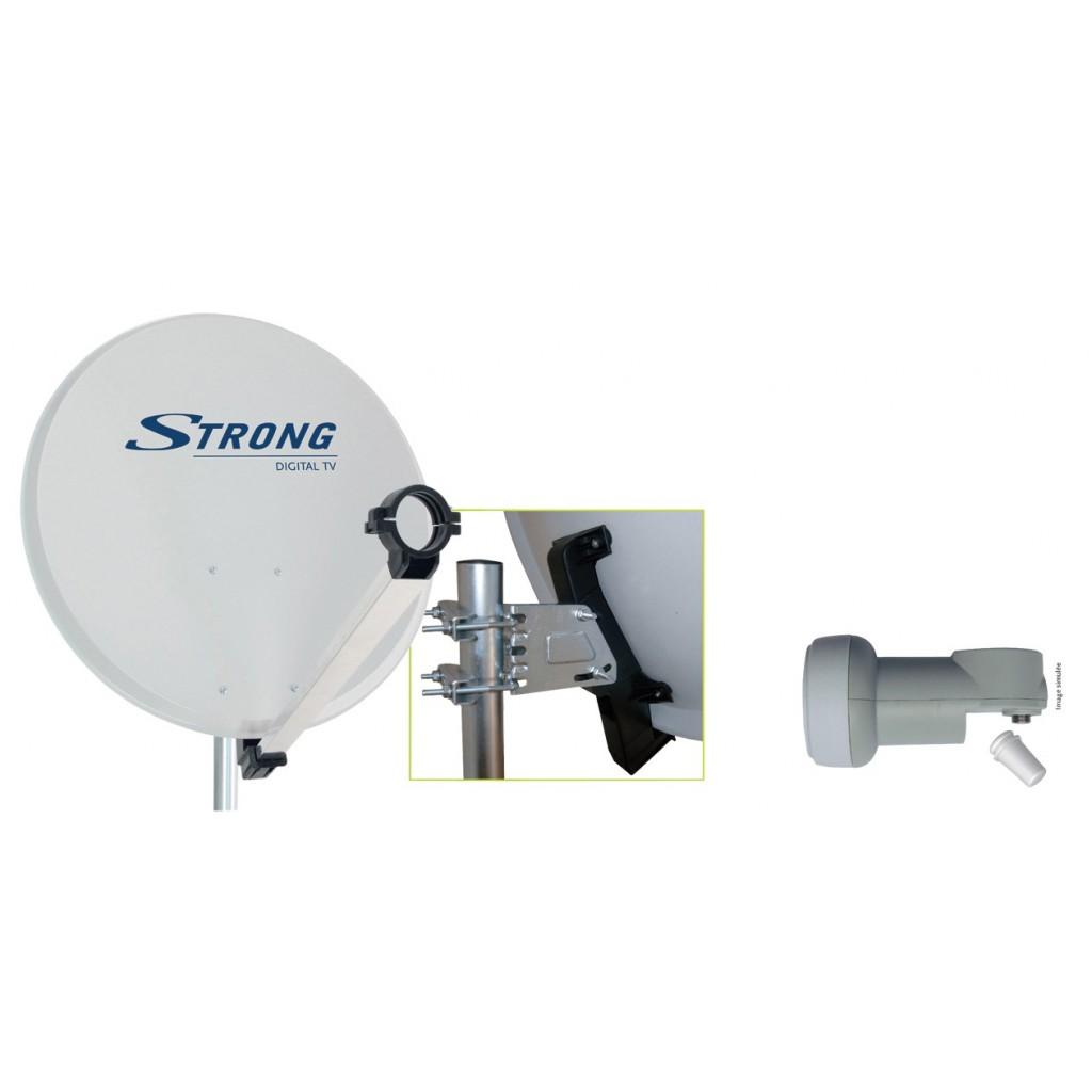38637 parabole sat 63 lnb single parabole satellite id ale pour la r ception des chaines sd et - Quel satellite pour canalsat ...