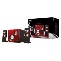 2.1 Haut parleur Systeme Purephonic 60 Watt Rouge