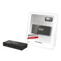 4 Ports USB Hub Black
