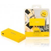 Lecteur de carte USB jaune Barcelone