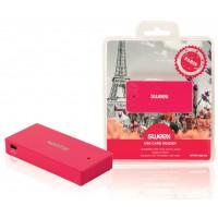 Lecteur de carte USB fuchsia Paris